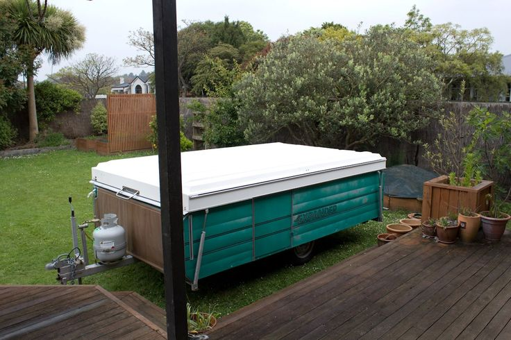 The caravan folds down to trailer and is very easy to tow.