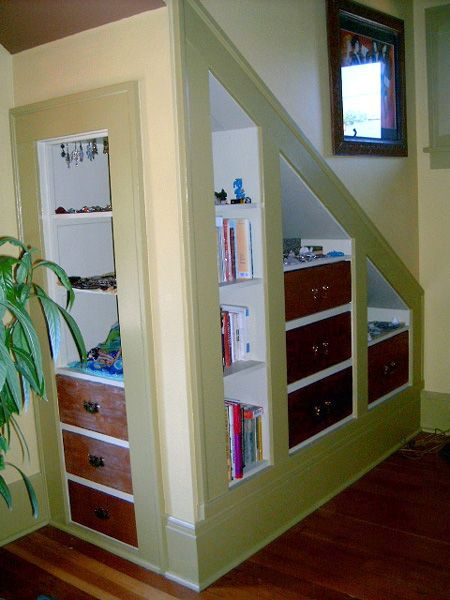 Recessed shelves - I am definitely going to have to do this, and I have just the right spot!