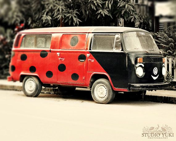 Happy Car Photo Ladybug Kombi Travel Photography by StudioYuki