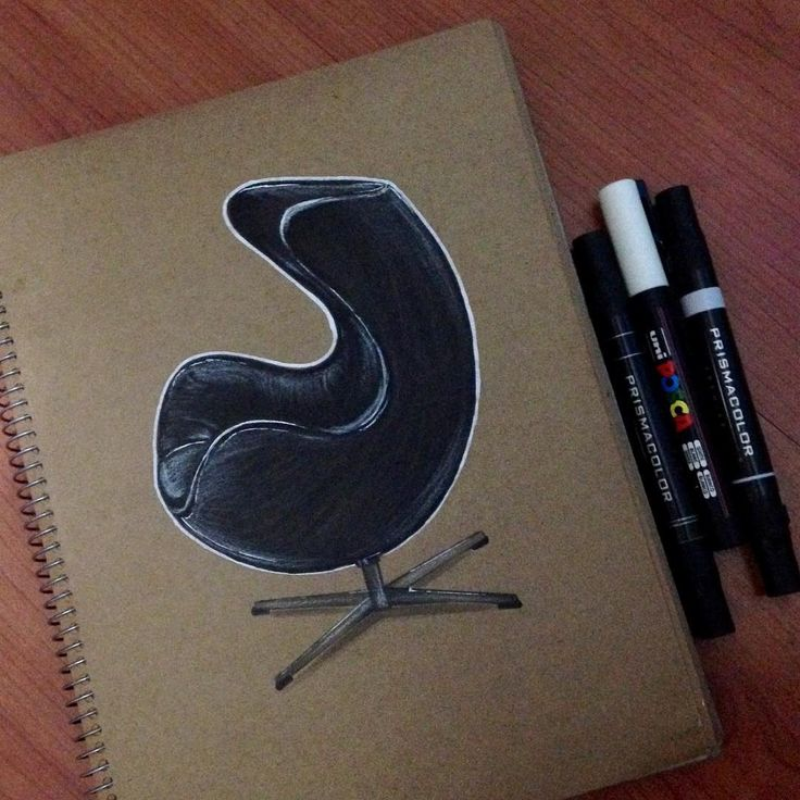 Egg chair -Modern Classic Chair #sketching #markerrendering #markersketching #prismacolor #markersketch #marker #mydrawing #sketch_daily #iddrawing #designsketch #pencilsketch #doodleday #doodle #draw #idsketch #ID #productsketch #designsketching #sketchaday #drawing #productdesign #sketchbook #sketch #sketching #diseñoindustrial #idsketching #sketching #markerrendering