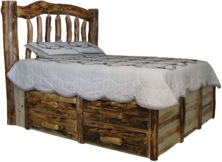 log furniture aspen log beds headboards and frames williams log cabin furniture