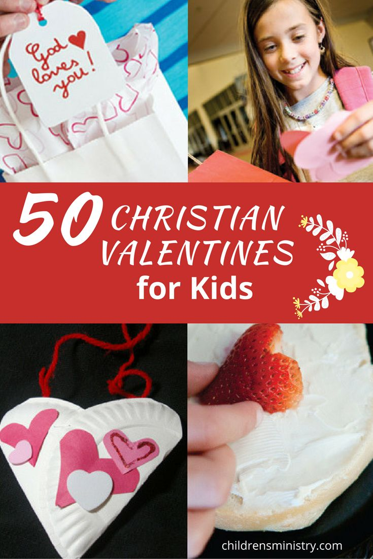 Valentine party ideas for church - 50 Christian Valentines For Children