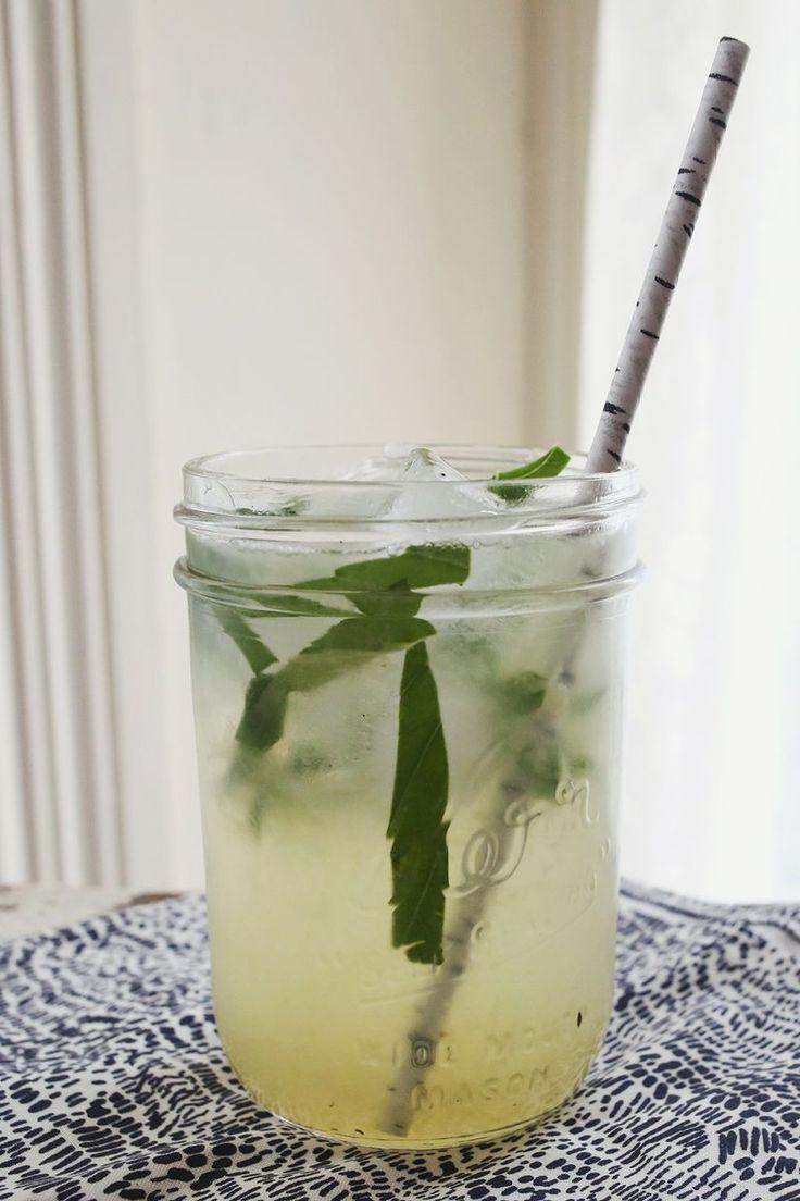 basil lemonade cocktail (A Beautiful Mess)