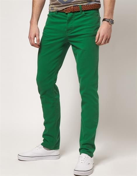 Купить джинсы зеленые
