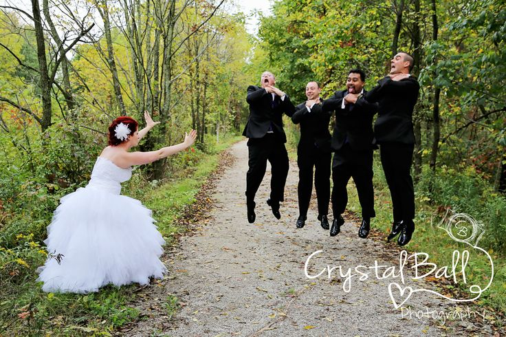 This was all the bride's idea! Love it!