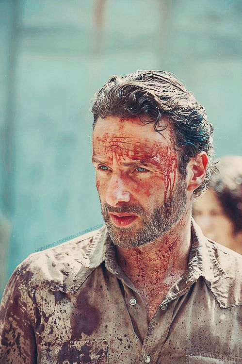 Rick Grimes<3 behind all the blood and gore...still can't get over those BLUE eyes!