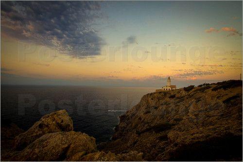 Poster Leuchtturm auf Mallorca