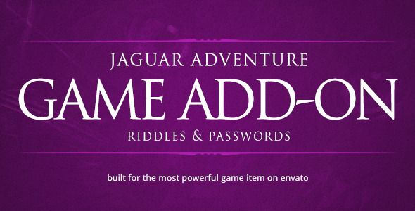 Riddles & Passwords - Jaguar Game Engine Addon