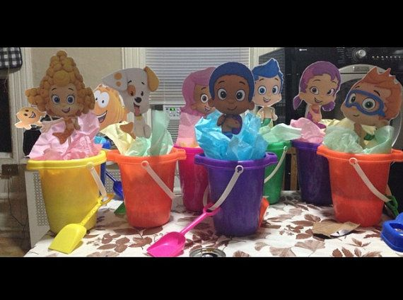 BUBBLE GUPPIES centerpieces by Micksgoodies on Etsy