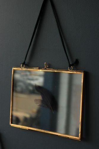 Brass  Glass Picture Frame - 5 x7 Landscape