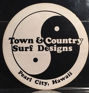 Vintage Town Country Surf Designs Pearl City Hawaii Skateboard Sticker | eBay