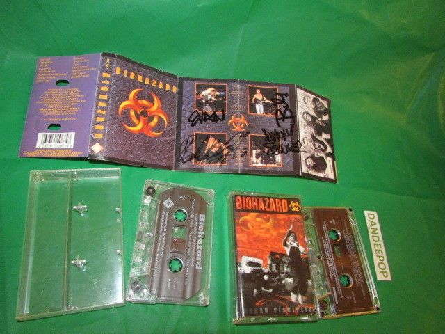 2 Biohazard Band Cassettes 1 Autographed Signed insert find me at www.dandeepop.com