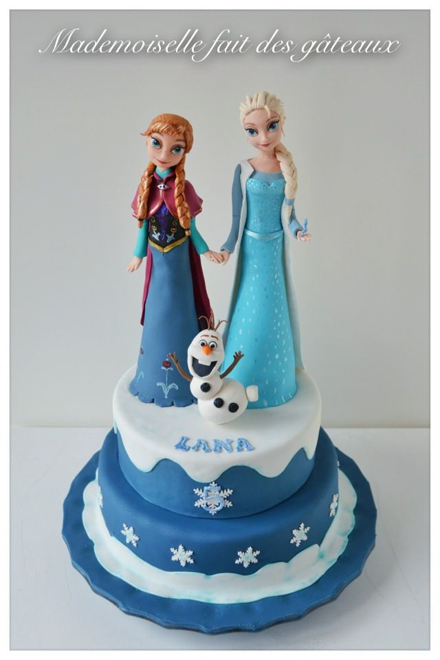 Gâteau Reine des neiges pour les 5 ans de ma fille Lana!