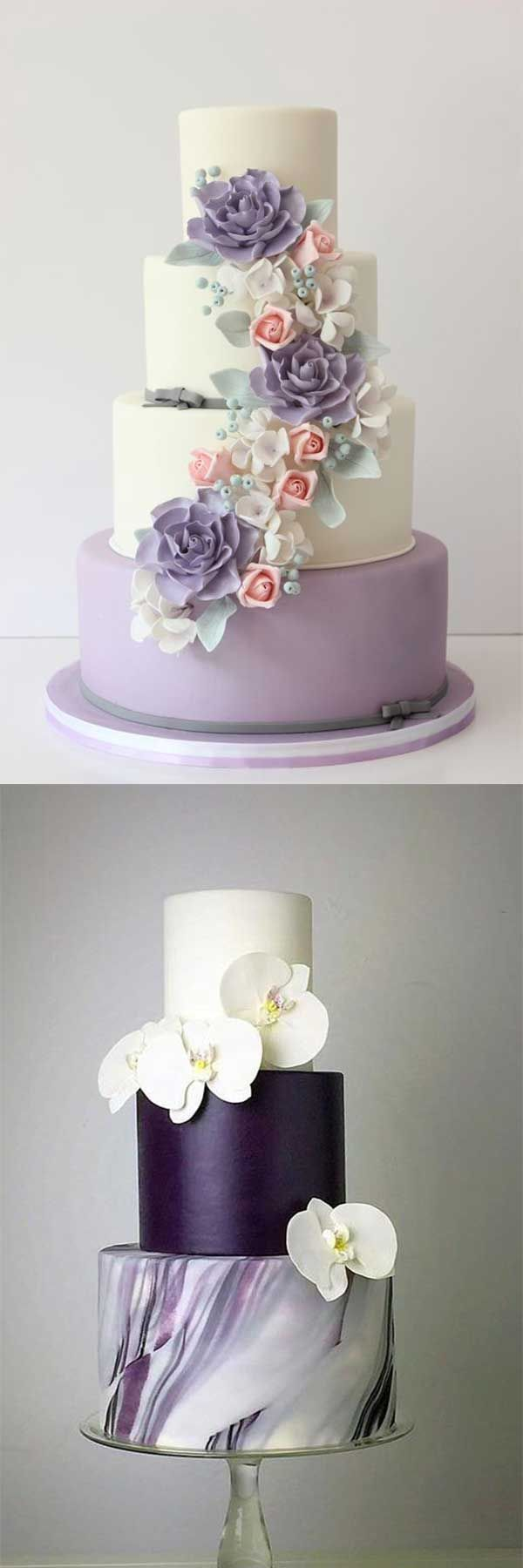 2018 BRIDES FAVORITE WEEDING COLOR: STYLISH SHADE OF PURPLE - Wedding Invites Paper shade of purple wedding cake/ light purple wedding cake/ cheap wedding toppers #weddingcakes