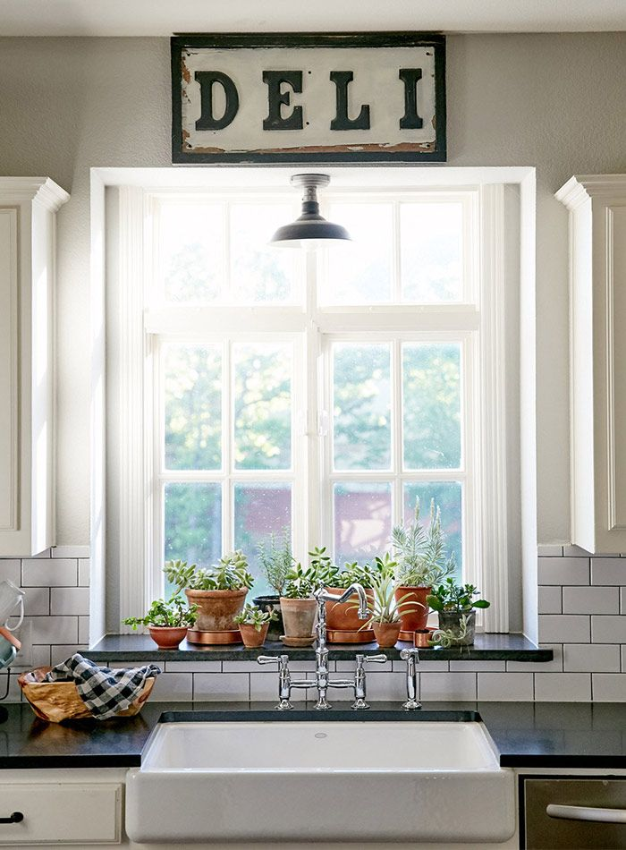 New Construction With Curated Charm In Texas Design Sponge Kitchen Window Sillkitchen Windowswindow Sill Decorwindow