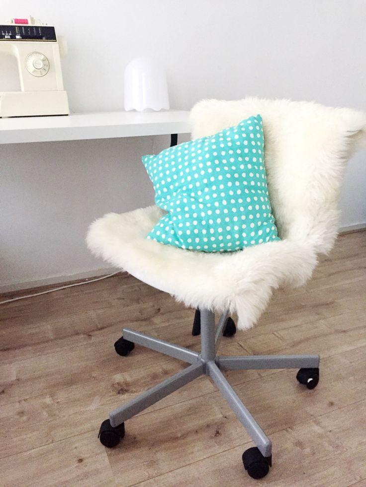 ikea hack furry desk chair