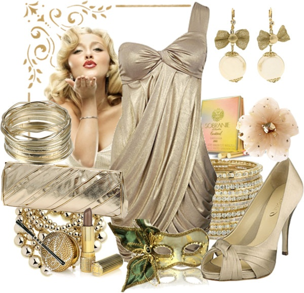 """""""Gold Dress"""" by gl0ry on Polyvore"""