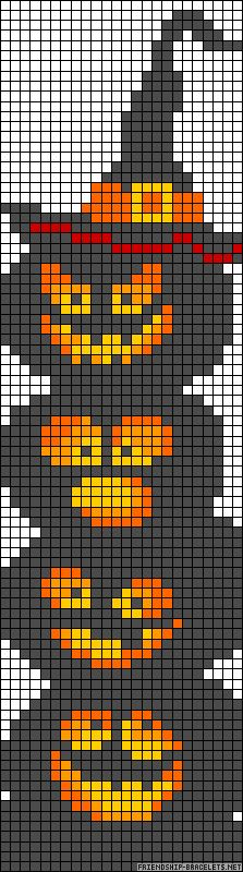 Free Halloween Cross Stitch Chart... would make a cool little scarf knitted in fair isle stitch
