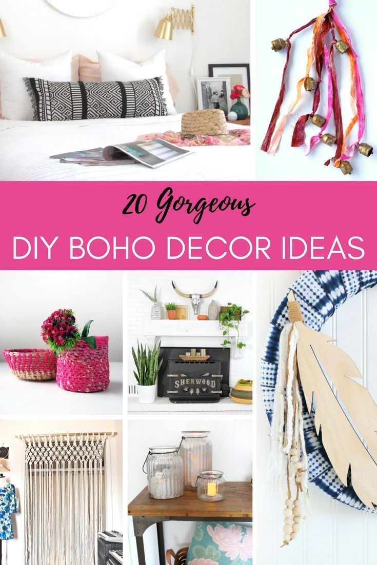 I've long been fascinated by the colorful gypsy vibe of boho decor.  These fun little accents are easy to do and add a spicy touch to your home's decor.