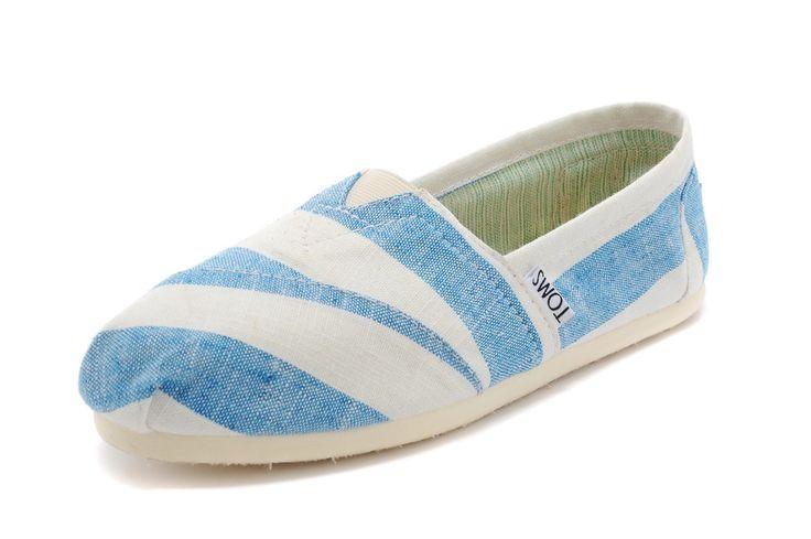 Toms Blue Zebra Womens Classics Shoes