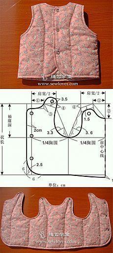 coser chaleco para niño: