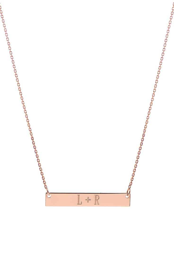 Mini Nameplate Necklace | Letters by Zoe Jewelry - Rose Gold