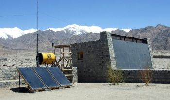 Solar water heaters @ Ladakh