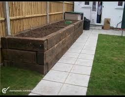 Image result for railway sleeper raised beds