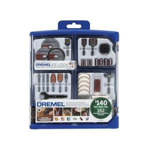 Dremel Rotary Tool Accessory Kit for Cutting, Sanding, Polishing, Grinding and Cleaning (162-Piece) 712 at The Home Depot - Mobile