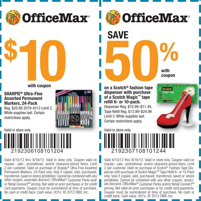 Officemax coupon may 2018