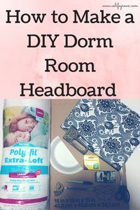 Make your dorm room more cozy with this DIY dorm room headboard! Click to learn how!