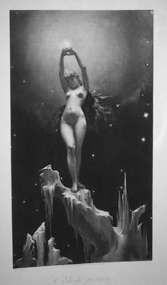 polar Star by Luis Ricardo Falero 1851- 1896 Artist painter Spanish and Photogravure published by Boussod and Valadon. 1886