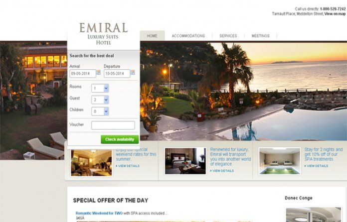 Joomla Template J-EmiralHotel