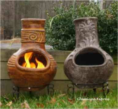 114 best images about patio chiminea on Pinterest | Wood ... on Backyard Chiminea Ideas id=77072