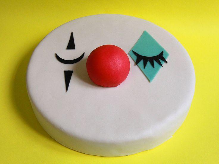 Le clown. Gâteau d'anniversaire à commander sur notre site web.