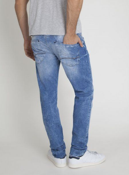   Marcus   Slim Straight Leg Denim In Hellblau   (25330)