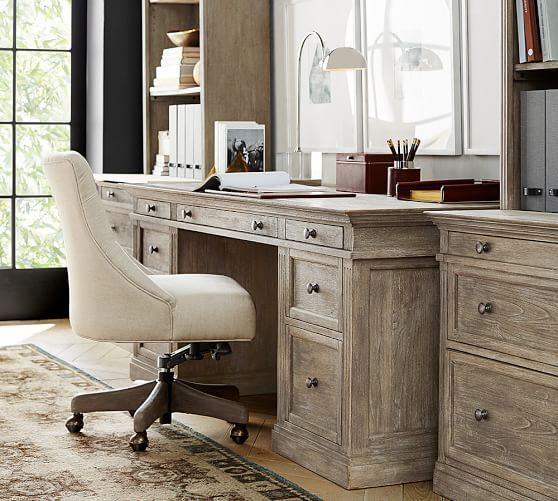 Livingston Large Desk | Pottery Barn--/but in writing pencil desk