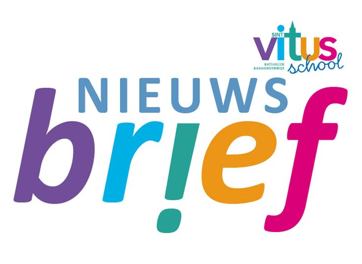 #Nieuwsbrief ontwerp voor #SintVitusschool door #designer #JochemAlbrecht van #ReclamebureauHolland.  #Reclamebureaus