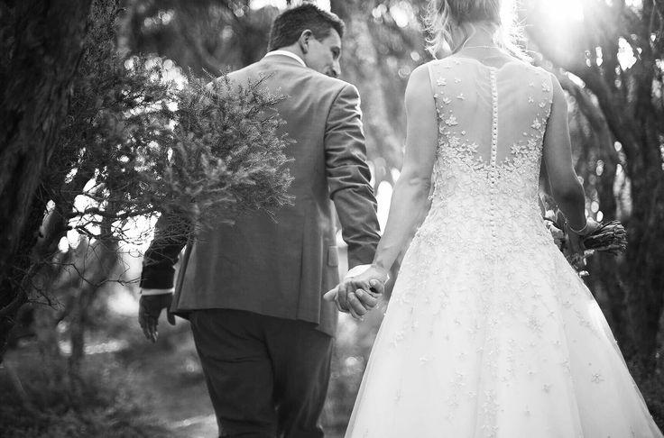 Wedding photography, Mornington Peninsula wedding, wedding dress, sunlight
