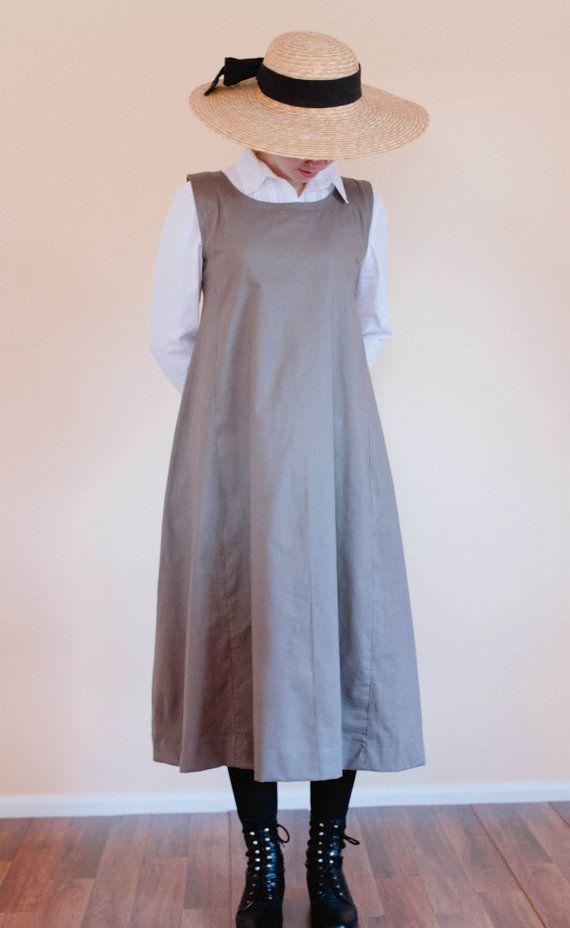 Jumper Dress  Womens Modest Pinafore Dress  by MarillasApparel                                                                                                                                                                                 More