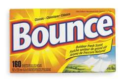 Bounce- 1. It will chase ants away when you lay a sheet near them. It also repels mice. 2. Spread sheets around foundation areas, or in trailers, or cars that are sitting and it keeps mice from entering your vehicle. 3. It takes the odor out of books and photo albums that don't get opened too often. 4. It repels mosquitoes. Tie a sheet of Bounce through a belt loop when outdoors during mosquito season.
