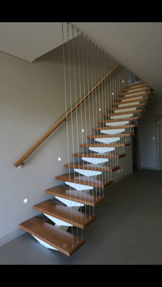 Steel and Tasmanian Oak Open Tread Staircase