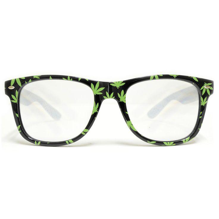 Pot Leaf Diffraction Glasses