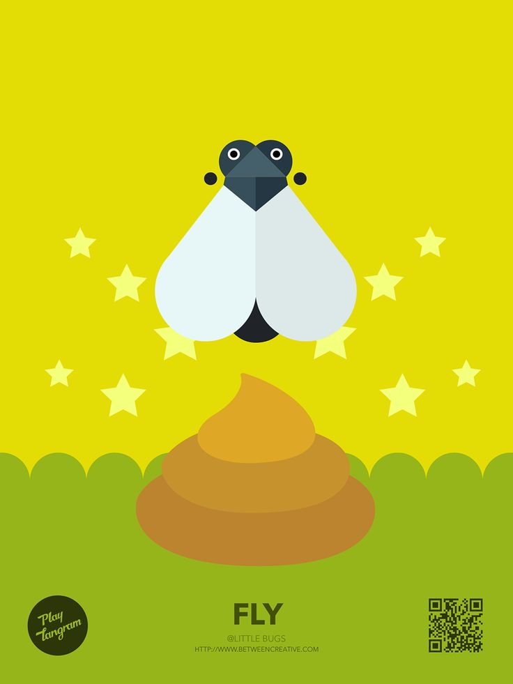 Cute Bugs Education puzzle_Fly #PlayTangram #Colorful #Modern #Minimal #Puzzle #Learning #Flat #ios #iphone #Nature #Children