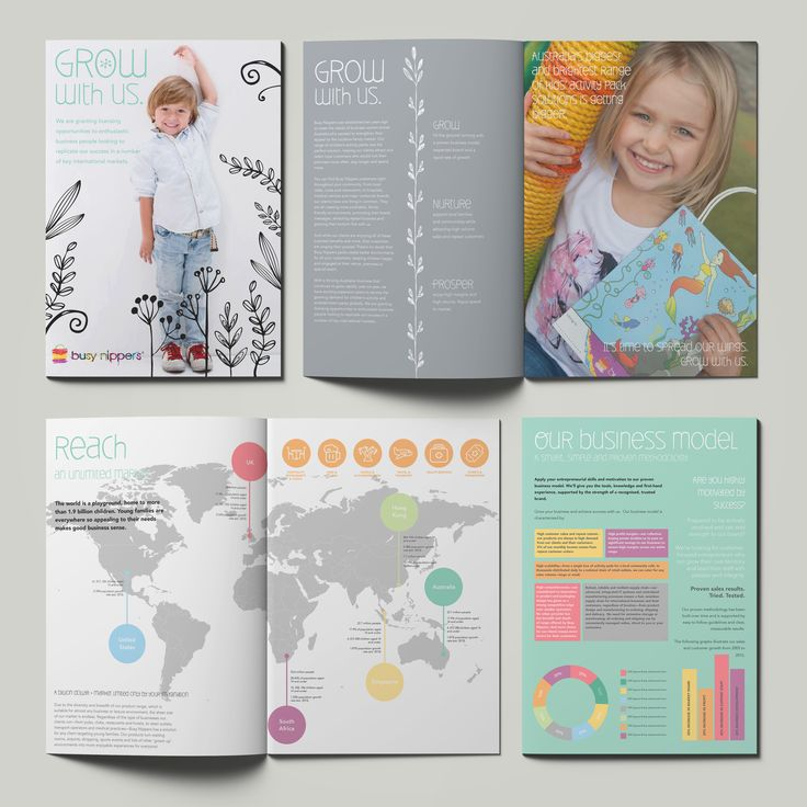 Franchisee prospectus document design for Busy Nippers