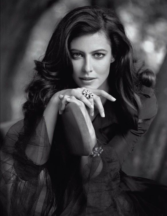 Anna Mouglalis by Karl Lagerfeld. Gorgeous and her hair is amazing!