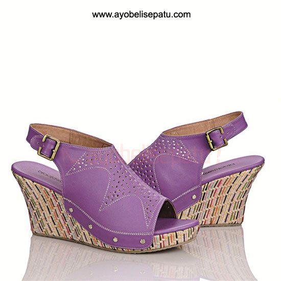 Purple Virna Wedge - IDR 140.000 #wedges #sepatuwanita