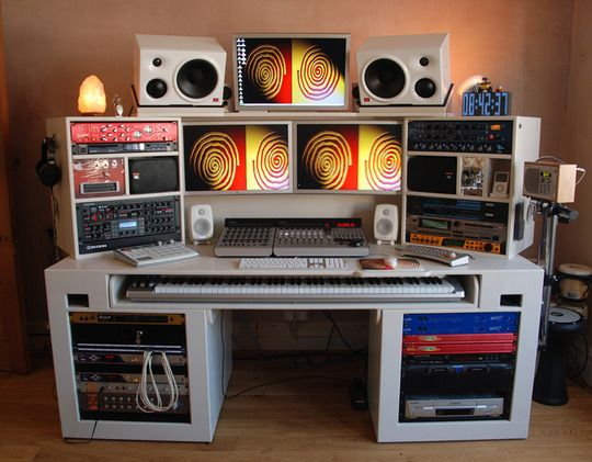 And This Is Where The Musical Magic Happens... Home Studio ...
