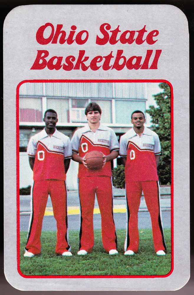 1984-85 OHIO STATE BUCKEYES MENS BASKETBALL POCKET SCHEDULE FREE SHIPPING #Pocket #SCHEDULE