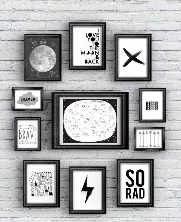 {Free Printable} 12 posters Black and White à imprimer!